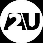 A2U new white logo